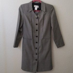 Petite Sophisticated button down womens blazer
